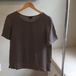 Theory Short Sleeve Silk Blouse**Like New**M